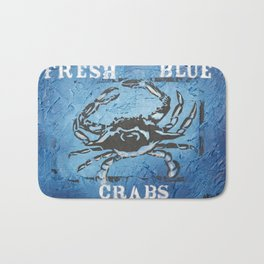 Fresh Blue Crabs Bath Mat