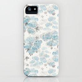 Watercolor Peonies Floral Pattern iPhone Case