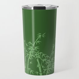 Bamboo design green all Travel Mug