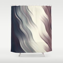 wavy lines pattern fn Shower Curtain