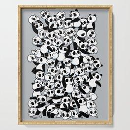 Dia de Los Muertos Panda Party Serving Tray