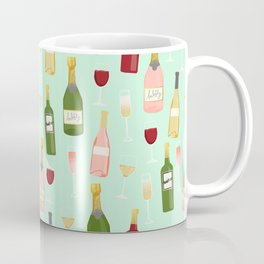 Rose drinks champagne wine bar art food fight apparel and gifts mint Coffee Mug