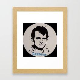Jack Kerouac Record Painting Framed Art Print