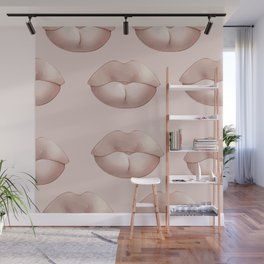 Pastel lips Wall Mural