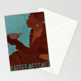 Vintage Red and Teal Turkish Coffee Woman with Cigarette Stationery Cards