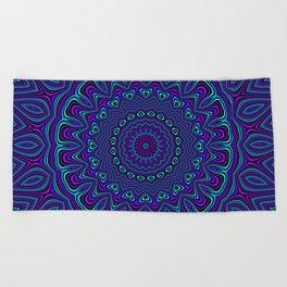 Trippy Kaleidoscope 2 Beach Towel