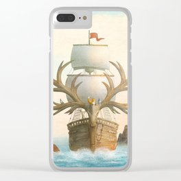The Antlered Ship - Jacket Clear iPhone Case