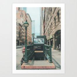 New York City Subway 2 Art Print