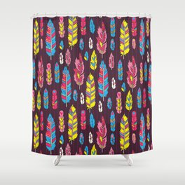 Tribal feathers Shower Curtain