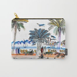 Promenade des Anglais in Nice France Carry-All Pouch