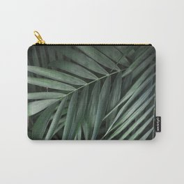 Elegant Green Tropical Leaves Carry-All Pouch