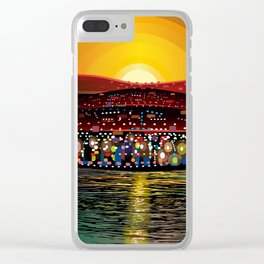 Angel Island Sunset (Square) Clear iPhone Case