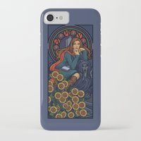 nouveau iPhone & iPod Cases featuring Pond Nouveau by Karen Hallion Illustrations