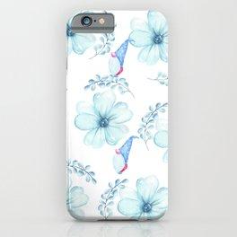 Renaissance Magic Gnome Blue Flowers iPhone Case