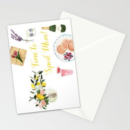Time to Spoil Mom Stationery Cards