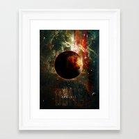 arrakis Framed Art Prints featuring DUNE Planet Arrakis Poster by Barrett Biggers