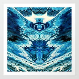 Throat Chakra Healing Art Print