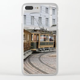Helsinki Classic Tram Clear iPhone Case
