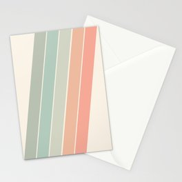 Trippin' - retro 70s socal minimal striped abstract art california surfing vintage Stationery Cards