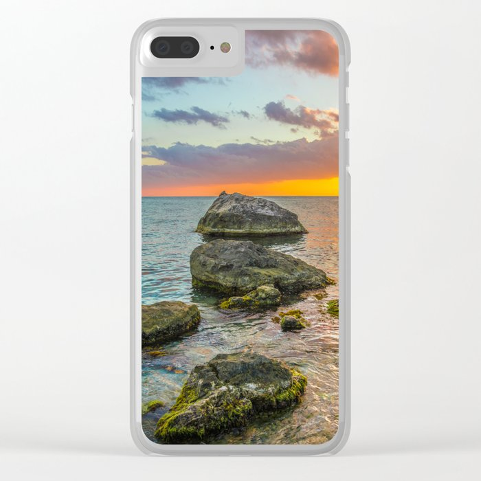 Sea stones Clear iPhone Case