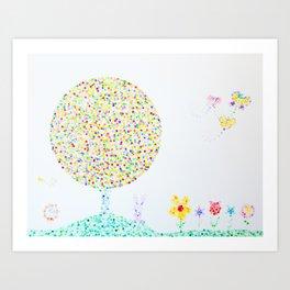 Children's garden Art Print