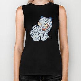 Tiger and magpie Biker Tank