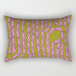 Bike Chain - Puke Pink Rectangular Pillow