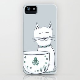 The Cat & The Octopus iPhone Case