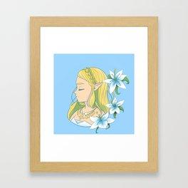 Silent Princess Zelda Full Framed Art Print