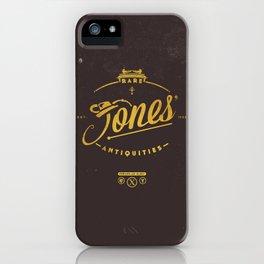 """""""Jones' Rare Antiquities"""" - gold version iPhone Case"""