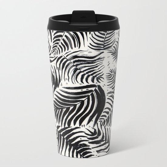 Palm Pattern Metal Travel Mug