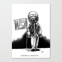 one small step for a squirrel, one giant leap for frank... Canvas Print