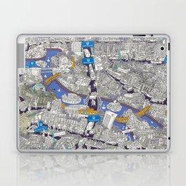 Illustrated map of Berlin-Mitte. Blue Laptop & iPad Skin