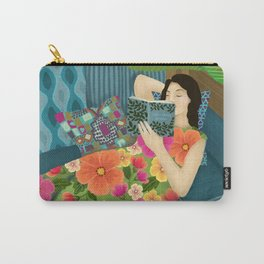 Women Who Read Are Dangerous- Woman reading plant filled room Carry-All Pouch