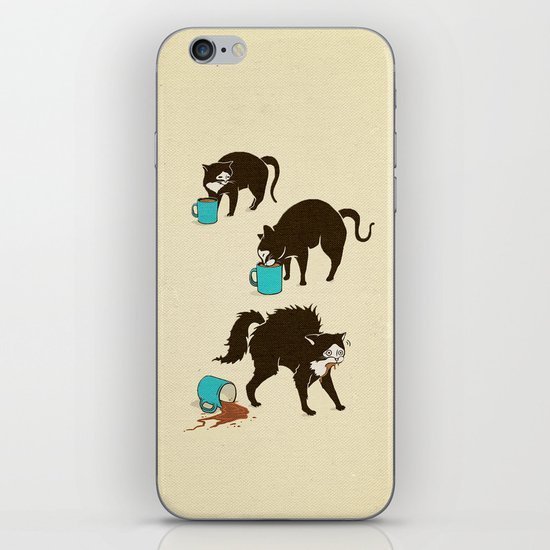 Coffee Cat iPhone & iPod Skin