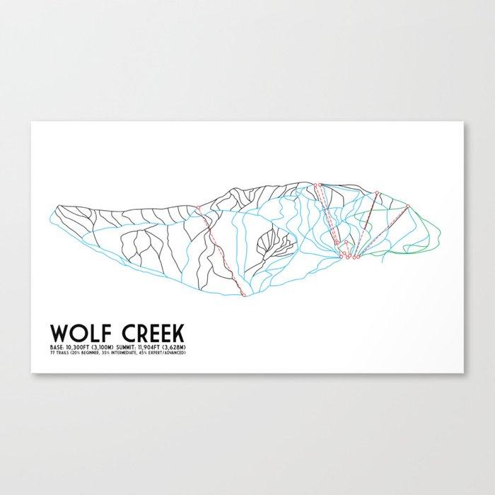 Wolf Creek, CO - Minimalist Trail Art Leinwanddruck