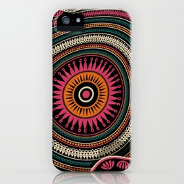 Abstract tribal background iPhone Case