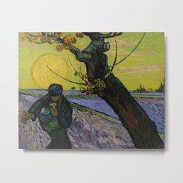 The sower by Vincent van Gogh, 1888 Metal Print