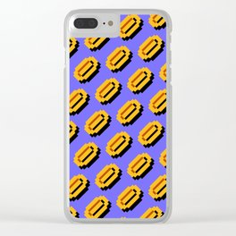 Super Mario Bros. (NES) coins pattern   blue sky background Clear iPhone Case