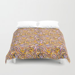 Wild Jungle in Sunshine Yellow Duvet Cover