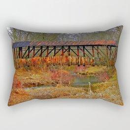 Cuppert's Covered Bridge Rectangular Pillow