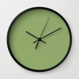 Monotone light olive. Wall Clock
