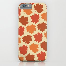Happy Fall Y'all! Falling maple leaves iPhone Case