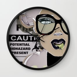 Miss INTOX Mugshot Party Captain by Night Wall Clock