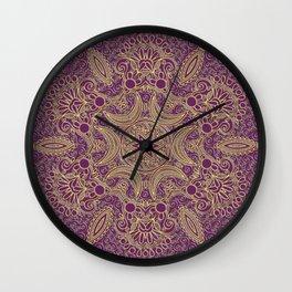 Boho Chic Bordo Wall Clock
