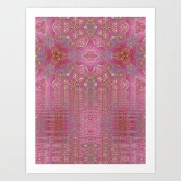 Rippling Pink Art Print