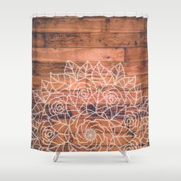 Wood Mandala I Shower Curtain