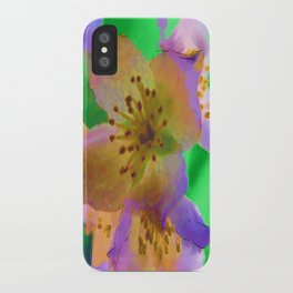 Purple Flowers - Watercolour Painting iPhone Case