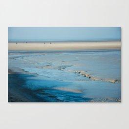Blue sand of the sea Canvas Print