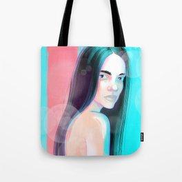 Sad young woman Tote Bag